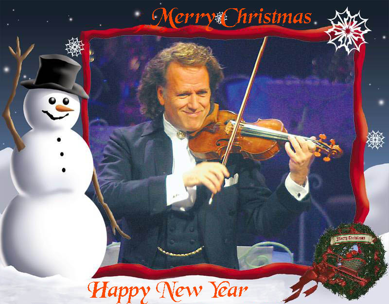 Andre Rieu Christmas tour map